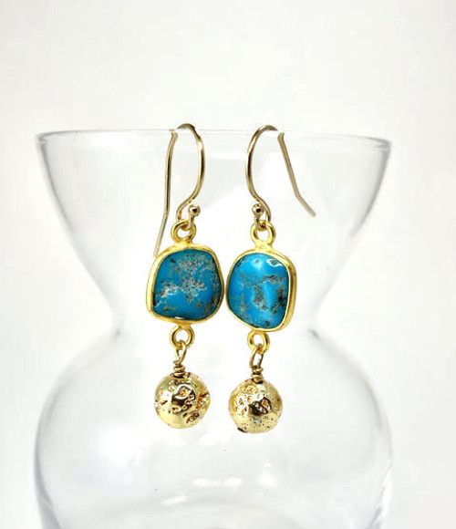 Sleeping Beauty Turquoise Earring