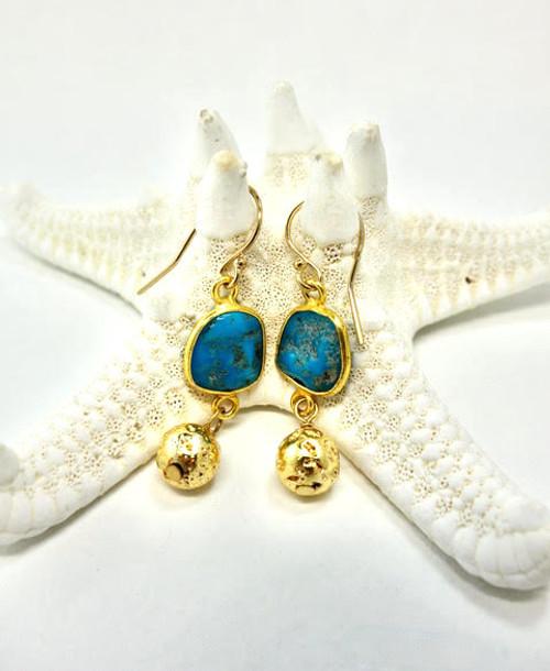 Sleeping Beauty Turquoise Earring