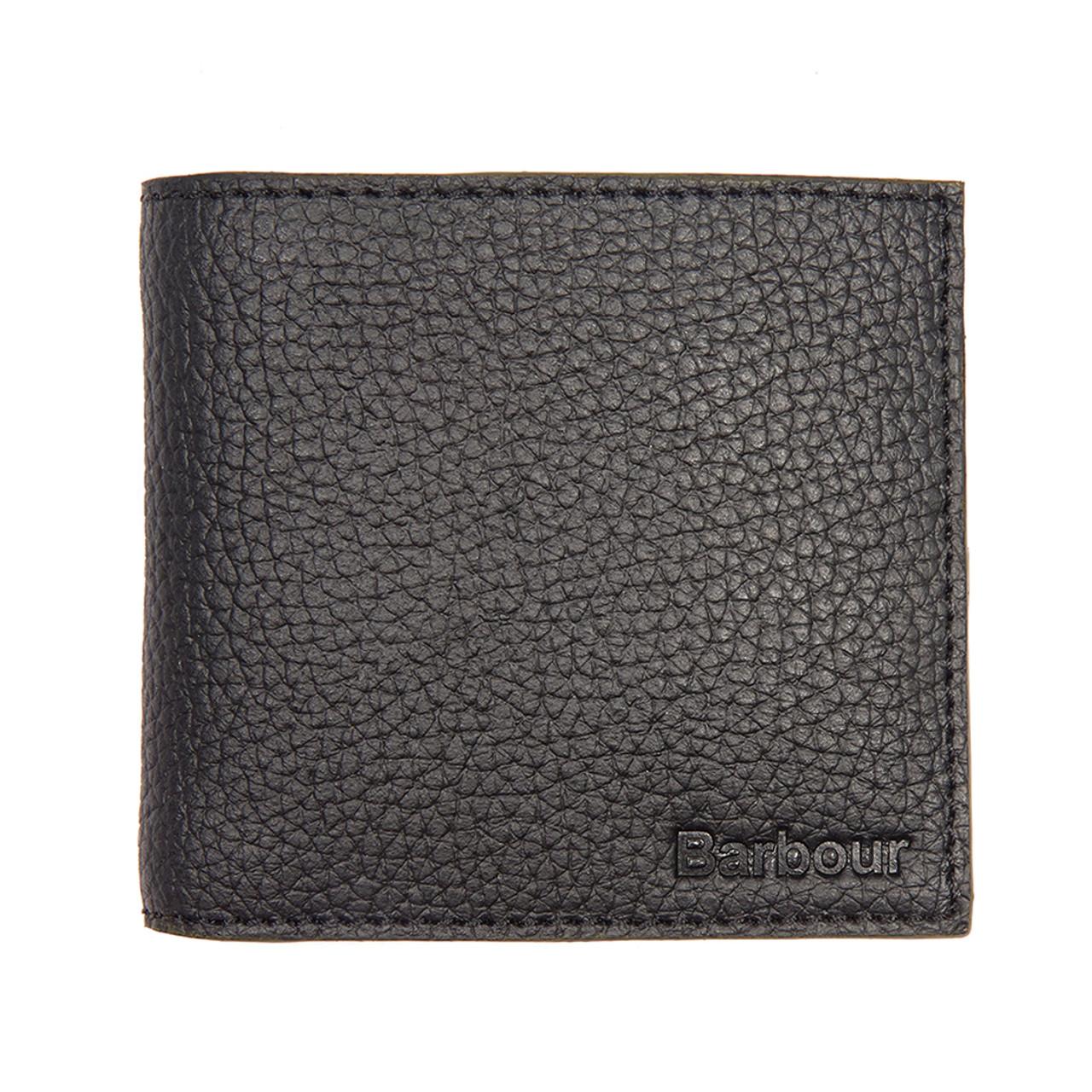 Barbour Grain Leather Wallet - Black 0674a665e53b2