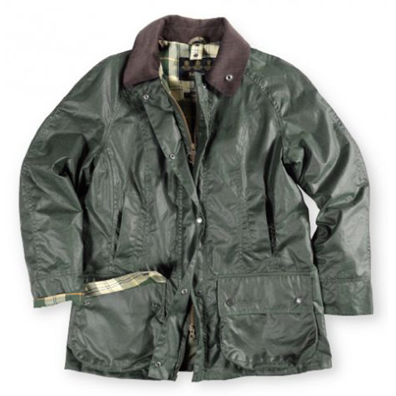 Barbour Women S Beadnell Waxed Cotton Jacket Sage