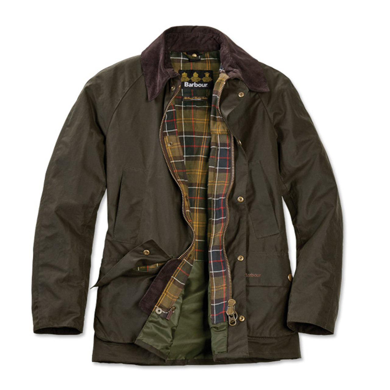 Barbour Ashby Waxed Cotton Jacket Classic Olive