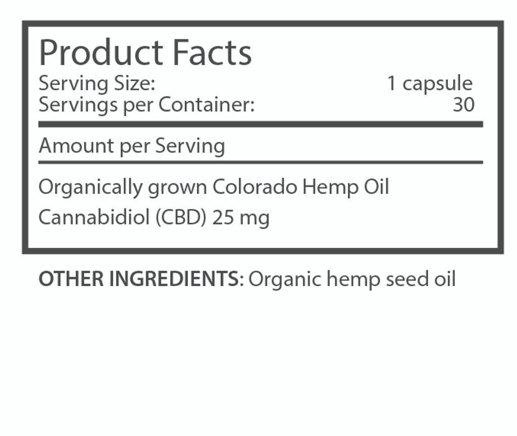 im·bue™ health-25 - 25mg premium CBD capsules - 30 ct