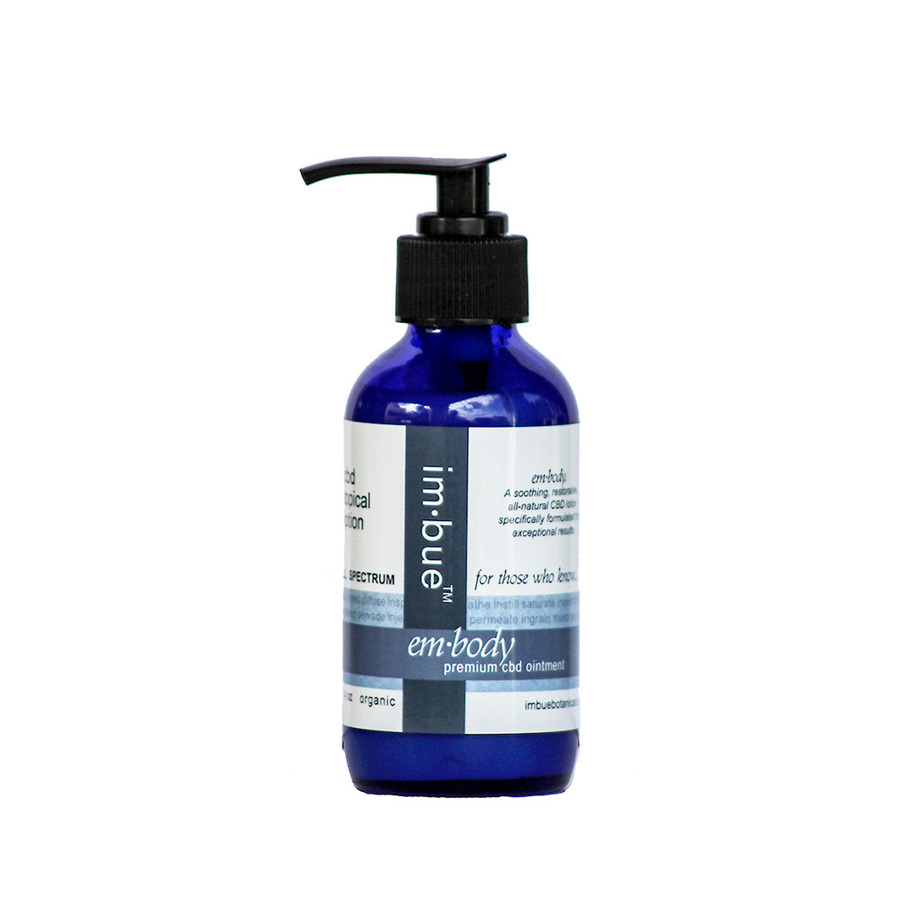 im·bue™ - em·body 200mg premium CBD lotion - 4 ounce bottle