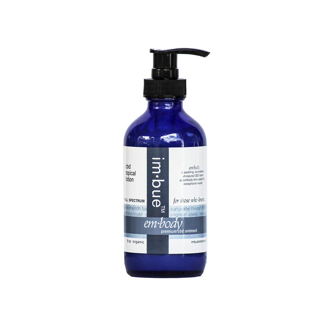im·bue™ - em·body 400mg premium CBD lotion - 8 ounce bottle