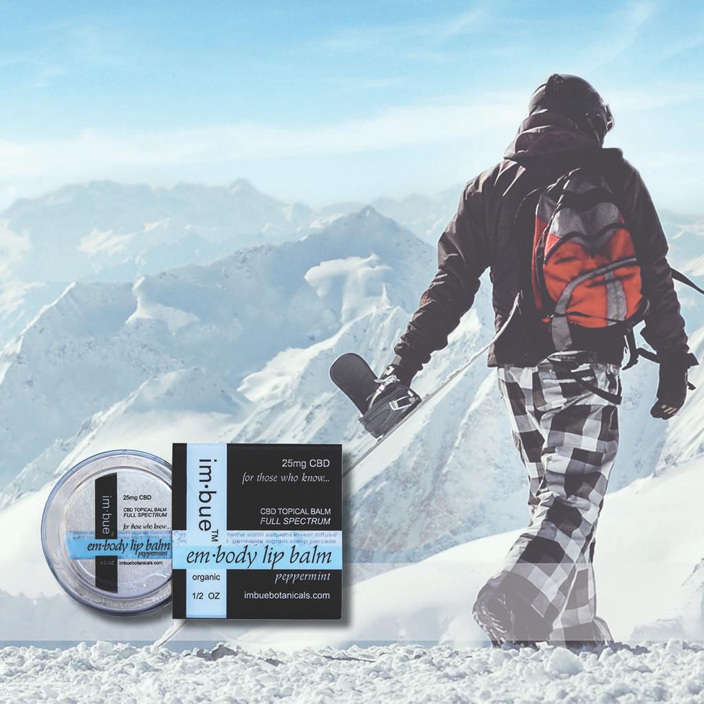 im·bue™ - em·body 25mg premium CBD peppermint lip balm - 1/2 ounce tin
