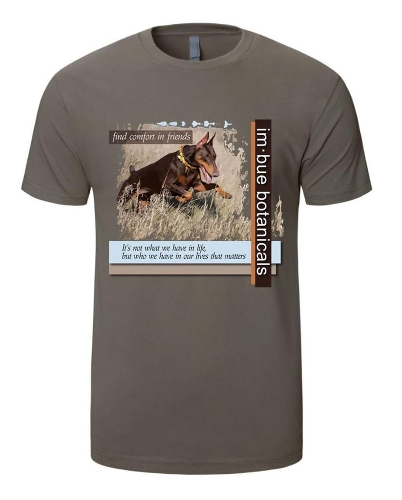 k9comfort t-shirt - warm grey with custom k9 design