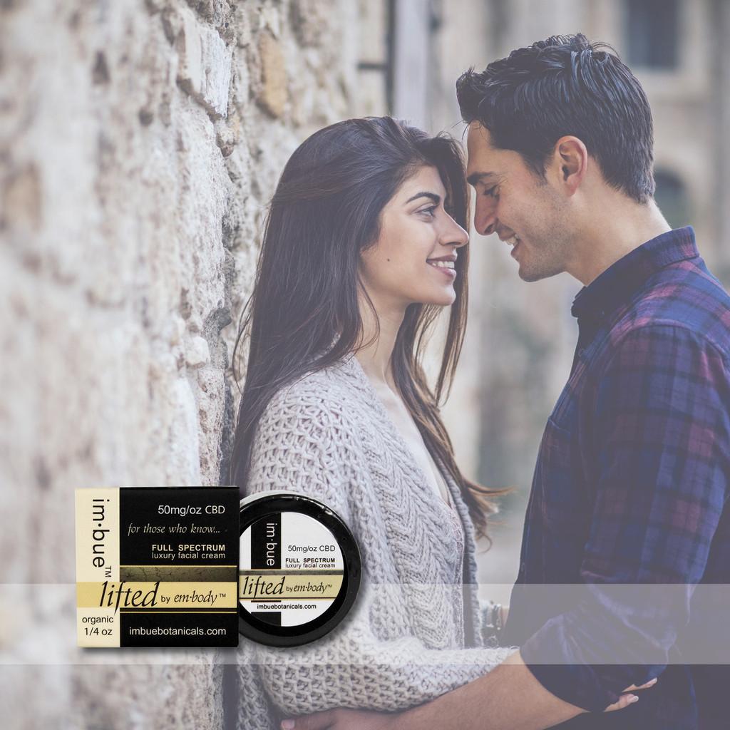 im·bue™ - lifted by em·body 25mg premium CBD facial cream - 1/4 ounce TRIAL SIZE
