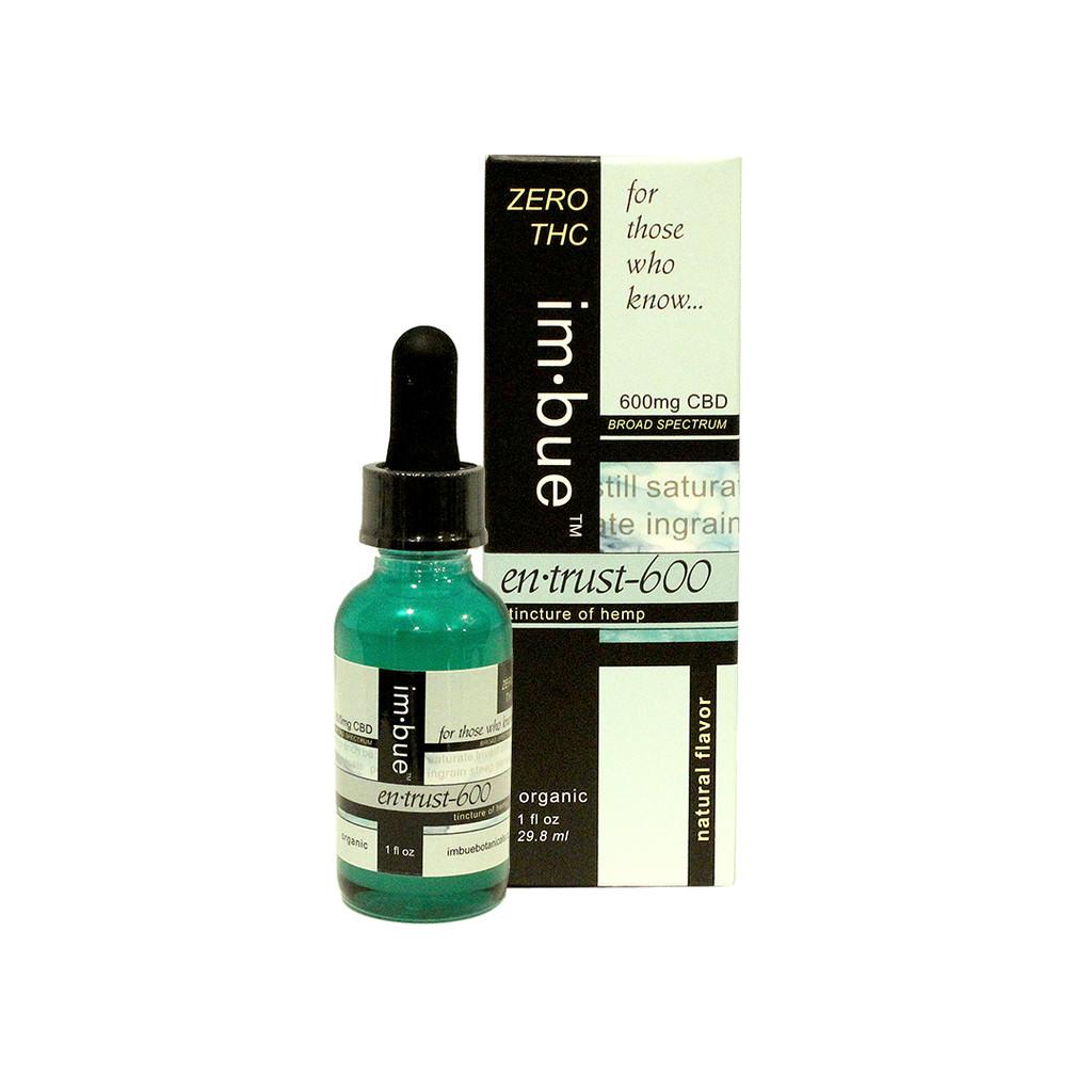 im·bue™ en·trust-600 ZERO THC - 600mg/oz CBD tincture of hemp - 1 fl oz.