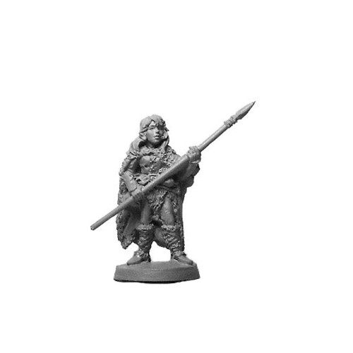 LL00211B Female Barbarian w/ Spear