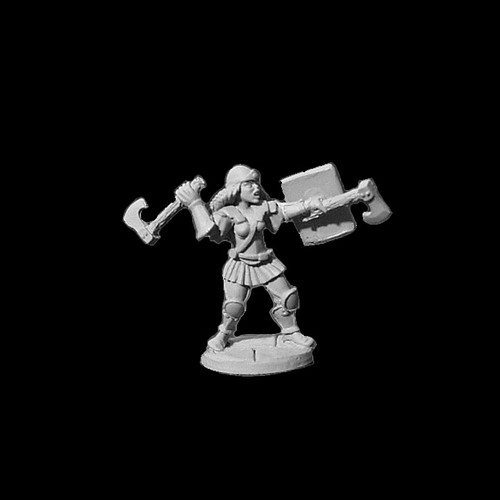 LL03070A Female Ranger w/ Throwing Axes & Buckler