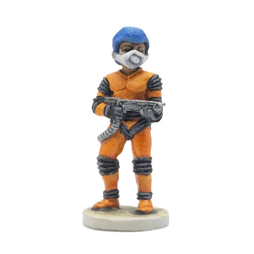 LLSF602 Retro Space Adventurer w/ Laser Rifle. Miniature scale shown for reference only - Not a part of the product.