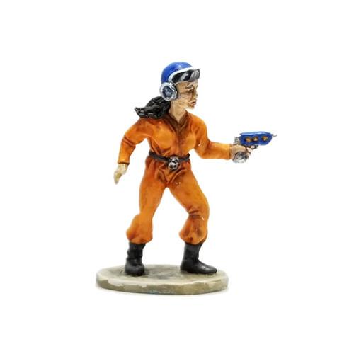 LLSF603 Retro Female Space Adventurer w/ Raygun