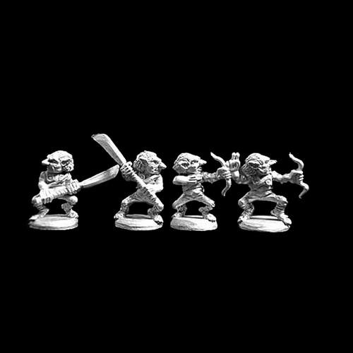 LL04004 Goblin Skirmishers (4) Blackmoor Ash Goblins