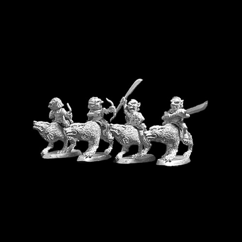 LL04004 Goblin Skirmisher Wolf Riders (4) Blackmoor Ash Goblins