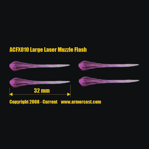 ACFX010 Large Laser Muzzle Flash (4 pcs)