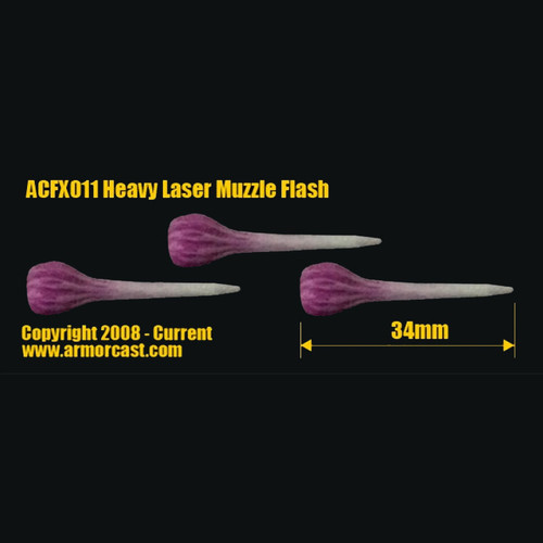 ACFX011 Heavy Laser Muzzle Flash (3pcs)