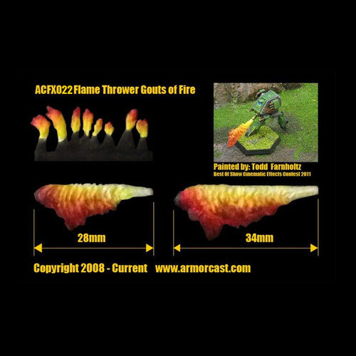 ACFX022 Flame Thrower Gouts of Fire (10pcs)