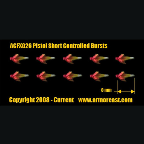 ACFX026 Pistol Short Controlled Bursts 10pcs