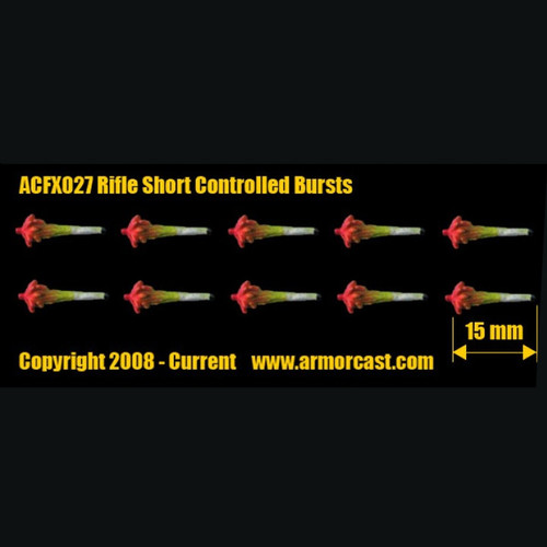 ACFX027 Rifle Short Controlled Bursts 10pcs