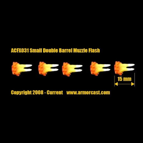 ACFX031 Small Double Barrel Muzzle Flash (5 pcs)