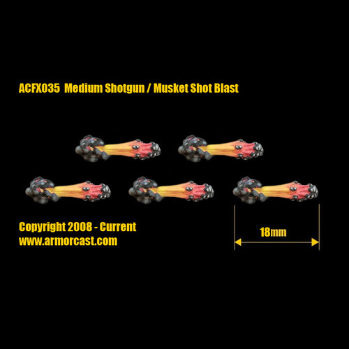 ACFX035 Medium Shotgun / Musket Shot Blast (5pcs)
