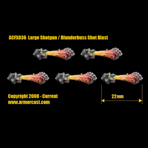 ACFX036 Large Shotgun / Blunderbuss Shot Blast (5pcs)