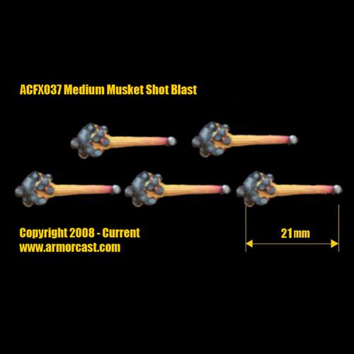 ACFX037 Medium Musket Shot Blast (5pcs)