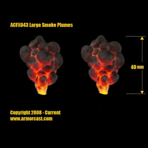 ACFX043 Large Smoke Plumes (2pcs)