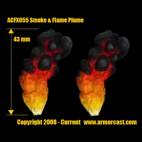 ACFX055 Plume of Smoke and Flame (2pcs)