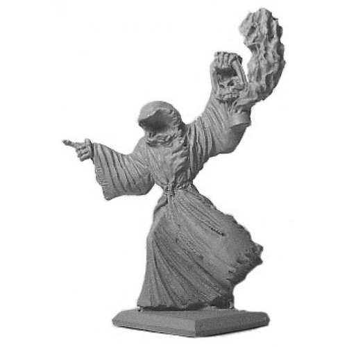 Haunting the graveyards the wraith looks for victims to possess into lesser minion wraiths. He wanders the dark tombs for eternity with his ghostly lantern. Sculpted by Kevin Contos in Heroic 28mm scale. Model is supplied unpainted.