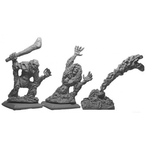 Swamp Zombies are awakened into undeath by evil necromantic sorceries. They roam feted swamps filled with bile waiting to disgorge their stomachs contents onto the unwary. Sculpted by Kevin Contos in 28mm Heroic scale. Models supplied unpainted.