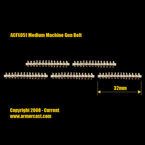ACFX051 Medium Machine Gun Belt (5pcs)