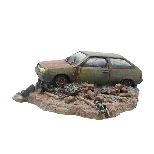 ACWV001 Wrecked Soviet Sub Compact Car Drivers Side