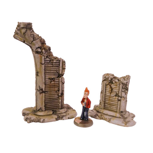 ACHW001 Ruined Highway Columns (2 pcs)