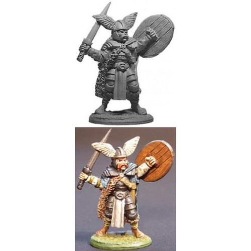 The Viking Prince is sculpted by Jim Johnson in 28mm heroic scale and supplied unpainted