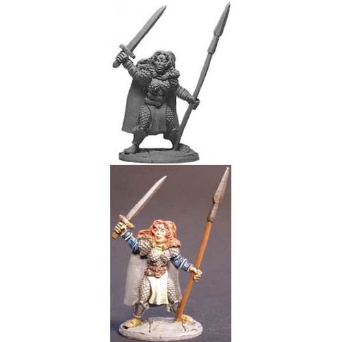 The Viking Warrioress is sculpted by Jim Johnson in 28mm heroic scale and the model is supplied unpainted.