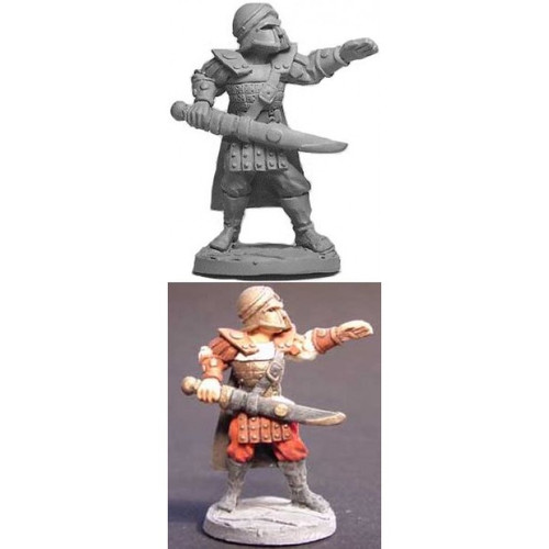 The Greek Hoplite Champion is sculpted by Jim Johnson in 28mm heroic scale and the model is supplied unpainted. Hopylite