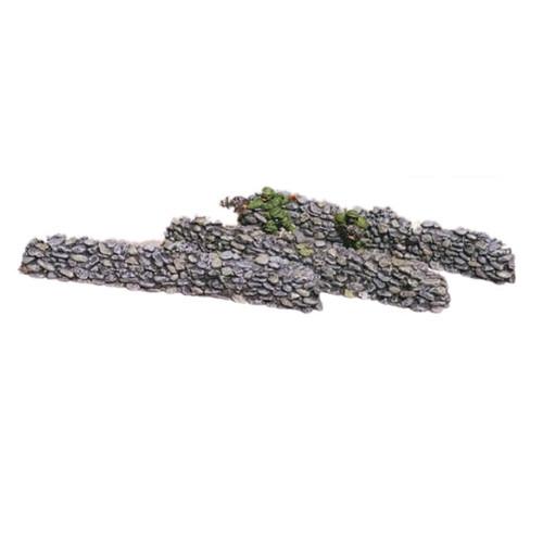 """ACW019 6"""" Long Small Rock Walls (3pcs)"""