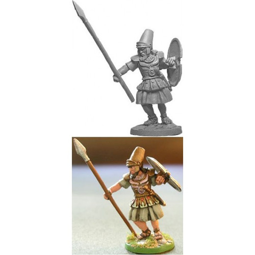 The Babylonian Warrior cast in lead free pewter.   Model sculpted in 28 mm scale and supplied unpainted and unassembled.  Sculpted by Jim Johnson