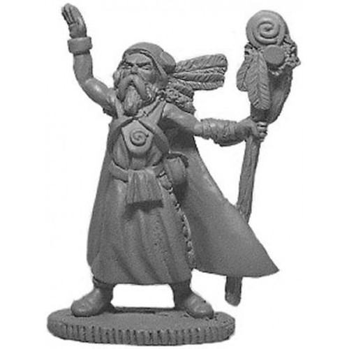 The Shaman sculpted by Jim Johnson in 28mm heroic scale and the model is supplied unpainted.