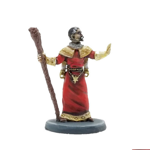 LL00180 Priest in Vestments with Staff  - Front