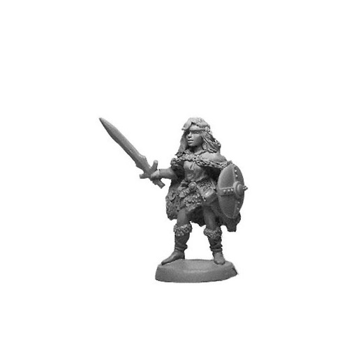 LL00211A Female Barbarian w/ Sword