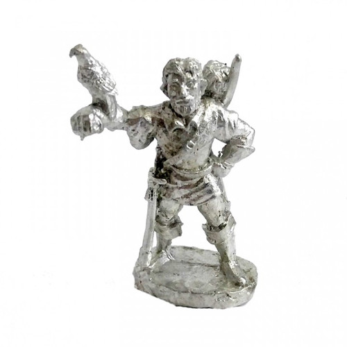 The Ranger w/ Falcon and has a bow slung across his back. The model is sculpted in 25mm scale and supplied unpainted in leadless pewter.
