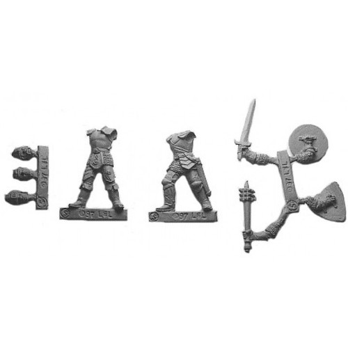Soldiers Of Fortune are a multi-piece customizable miniatures with your choice of weapon arms and heads. Cast in 28mm scale lead free pewter and sculpted by Sandra Garrity.