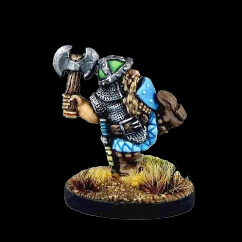 LL20610 Dwarf Hero w/ Axe Kicking Down the Door