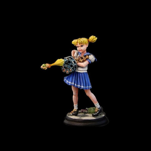 GFGK001 54mm Anime School Girl with Hamster Gun