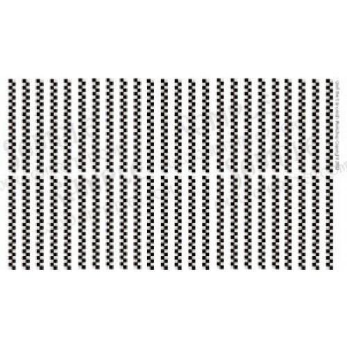 WARCHK001 Black and White Checkerboard Pattern