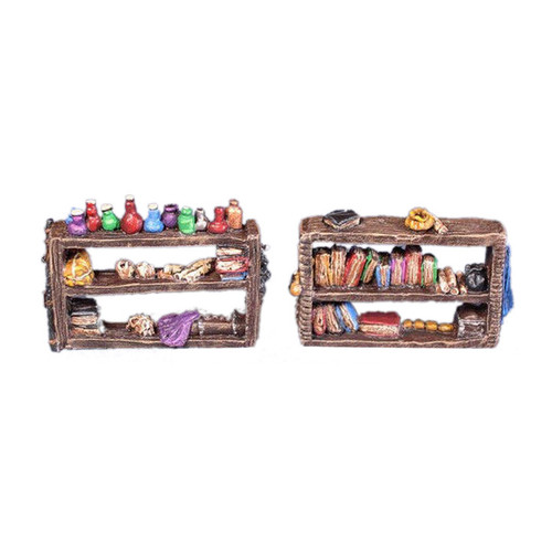 ACID003 28mm Alchemist Shelves w/ Potions & Books