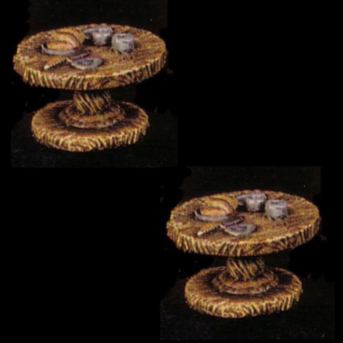 ACID013 2x Round Table w/ Food