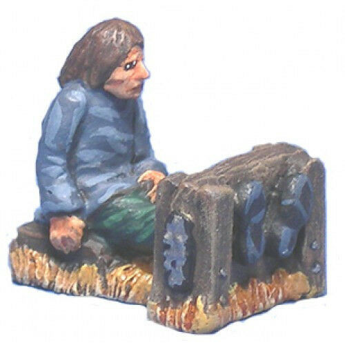 Dungeon decor for the torture chamber or town square in 28mm scale. There is a sitting peasant boy victim and the leg stocks. Great for any Fantasy or Witch Hunting game! The models are cast in leadless pewter and are supplied unpainted in 28mm scale.